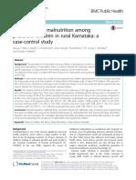 Risk Factors Malnutrition