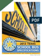 Texas 2013 School Bus Specifications