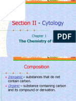 Section II-Chap 1 Chemistryof Life