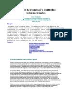 Escasez de Recursos y Conflictos Internacionales