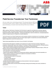 Field Service Transformer Test Technician