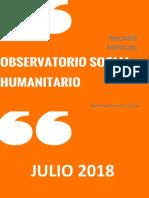 Observatorio Social - Humanitario VP. Informe Mensual de Julio