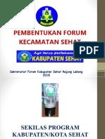Bahan Rapat Pembentukan Forum Kecamatan Sehat, 2018