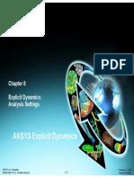 Explicit Dynamics Analysis Settings