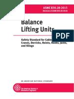 ASME B30!28!2015 Balance Lifting Units