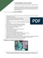 Funciones de La Enfermera Circulante