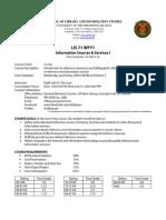 LIS 71 Syllabus 1st Sem 15-16