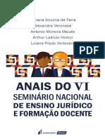 Anais do VVI Seminário Nacional de Ensino Jurídico e Formação Docente