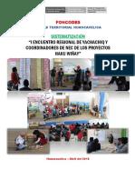 Sistematizacion Encuentro de Yachachiq Huancavelica