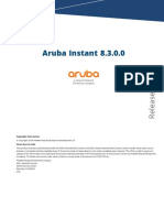 Aruba Instant 8.3.0.0 Release Notes