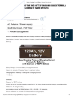 Battery Charging Current & Battery Charging Time Formula