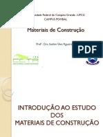 P1 - Materiais de Construção- introdução