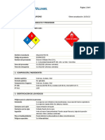 MSDS Diluyente P20 NC