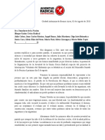 Carta Al Bloque UCR Senado - IVE