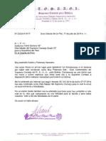 Felicitaciones del SCG33° de Bolivia al Web Master del SCG33° del Perú