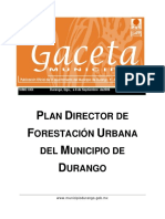 Plan Director de Forestacion Urbana