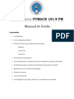Manual de Estilo Radio Utmach