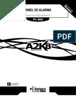 Manual de instalación alarma ALONSO A2K8