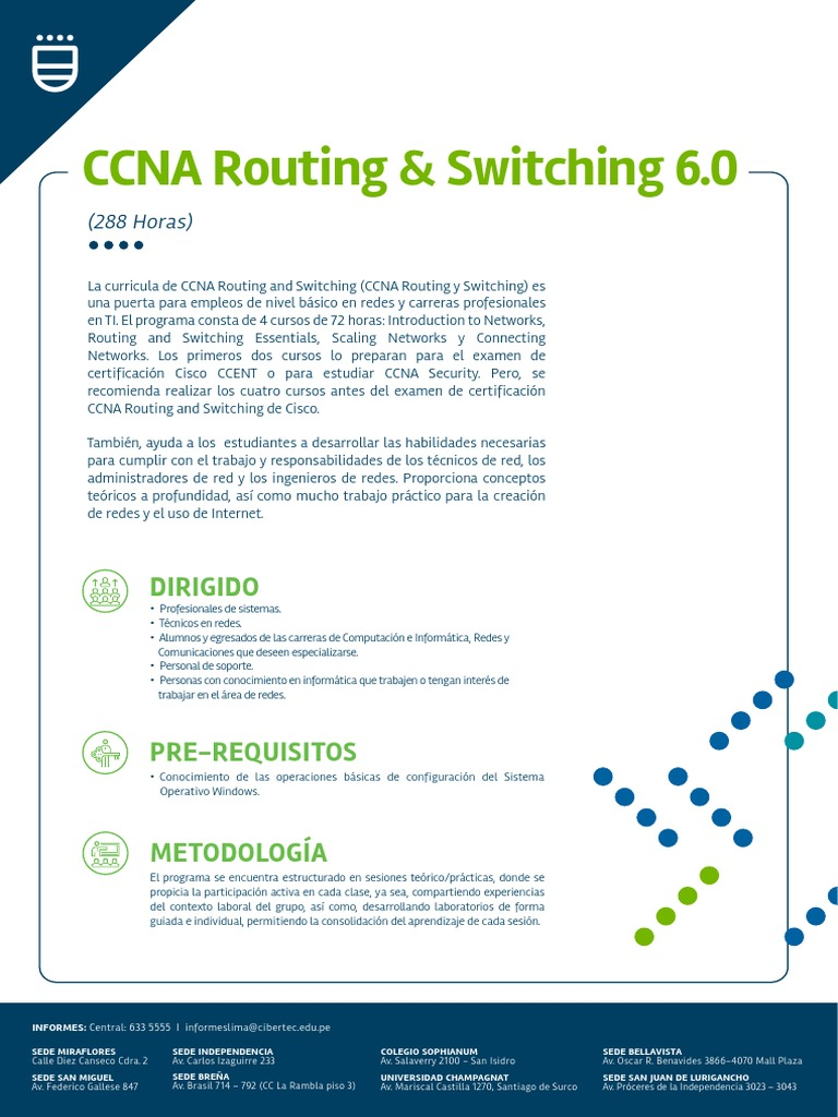 Ccna Routing Switching 6 0 4 Módulos