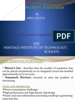 Single-Electron Transistor INTERRA PPT