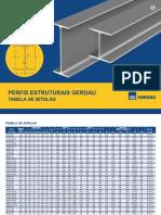 TABELA de PERFIL W - Gerdau.pdf