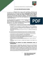 ACTA DE Recepción DE OBRA