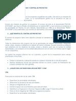 PLANIFICACION, PROGRAMACION Y CONTROL DE PROYECTOS