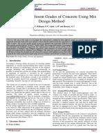 Paper on concrete mix design