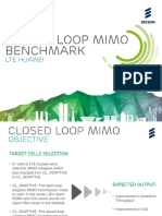 Closed Loop MIMO Benchmark - LTE Huawei