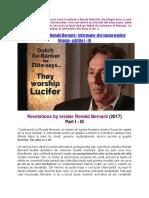 Confesiunile lui Ronald Bernard - informator din lumea marilor finanţe - părțile I - III