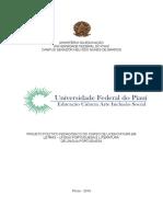 Projeto Político Pedagógico Letras Português UFPI