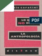 Sophie Caratini - Lo que no dice la antropología