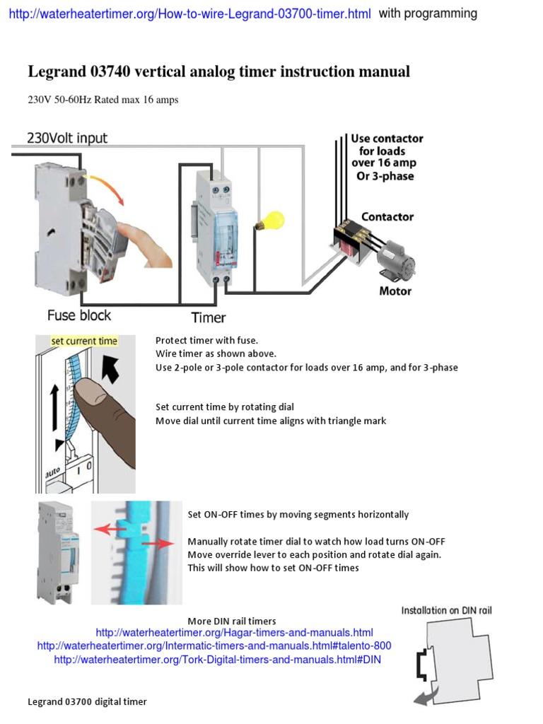 legrand 03740 timer instruction manual pdf rh scribd com