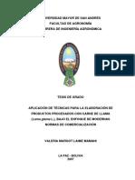 TESIS DE GRADO EMBUTIDOS BOLIVIA