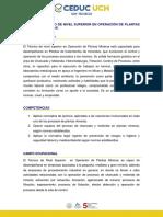 Perfil y Competencias Tns en Operación de Plantas Mineras
