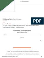253 Startup Failure Post-Mortems