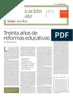 UNIVERSIDAD PEDAGOGICA Led _11 TREINTA AÑOS DE REFORMAS EDUCATIVAS
