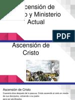 Ascensión de Cristo y Ministerio Actual