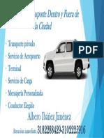 Servicio de Transporte Dentro y Fuera de La