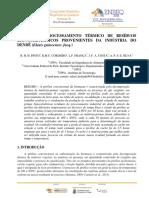 ESTUDO DO PROCESSAMENTO TÉRMICO DE RESÍDUOS LIGNOCELULÓSICOS PROVENIENTES DA INDÚSTRIA DO DENDÊ (Elaeis guineenses Jacq.)