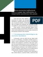 A Nova Economia Institucional (Nei) e o Papel Das Instituições No Crescimento Econômico Dos Países