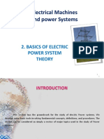 Electrical Machines and Power Systems 2- Basics of Electric Power System Theory