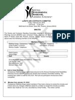Draft Minutes Grants 2.23.18