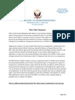FISA Title I Summary