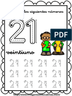 GRAFOMITRICIDAD NUMEROS DEL 1 AL 30