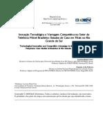 Inovação Tecnológica e Vantagem Competitiva no Setor de Telefonia Móvel Brasileiro