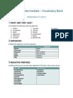 Vocabulary Bank_ Personality (Key)