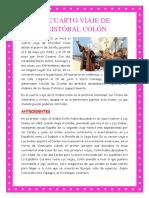 El Cuarto Viaje de Cristóbal Colón