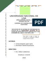 Aplicacion Sistema Contabilidad de Costos Camaronera Rosimar PNNOLLC RUC No 1102170949001 Año 2009 UNLoja