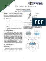 Caracteristicas de Un Transistor BJT